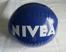 2 Nivea Beachball Wasserball Ball in blau mit weißem Schriftzug NEU mit OVP