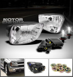02-09 CHEVY TRAILBLAZER BUMPER FOG LIGHT LAMP+6000K HID KIT LS LT SS EXT LTZ NEW