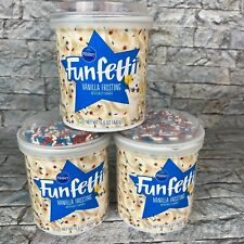 Pillsbury Funfetti Vanilla Frosting Icing Colorful Sprinkles Stars Stripes