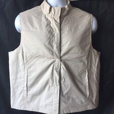 NWT Dockers Mens Sz Large Vest Ivory Tan Jacket Lightweight Outdoors Hiking