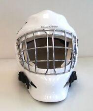 New Vaughn 7500 Jr Goal ice hockey goalie cage face mask helmet white junior