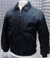 Abrigos y chaquetas de hombre negro militares de nailon