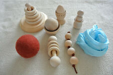 Montessori Waldorf Deluxe Infant Toddler Toys with Organic Beeswax Finish Gift