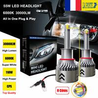 8 Côté 110W 30000LM H1 LED Ampoule Voiture Phare Feux Lampe Lumineux Blanc 6000K