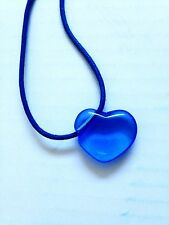 AGATHA Paris Blue Crystal Heart Pendant with Leather Necklace New No Tags