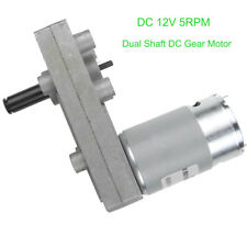 High Torque Low Speed Metal Gear Motor Silver DC 12V 5RPM Electric Geared Motor