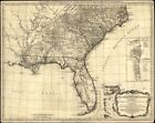 """18"""" x 24"""" 1776 Map Of Southern British Colonies In America"""