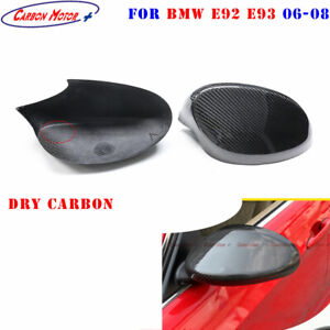 For 06-08 BMW 3 Series E92 E93 Dry Carbon Fiber Side Mirror Cover Stick on type