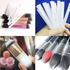 20Pcs Makeup Cosmetic Beauty Brush Pen Guards Sheath Mesh Net Protector Cover