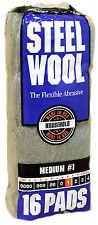 Case Rhodes American Steel Wool Grade 1 - Medium ~ 6 bags of 16 steel wool pads
