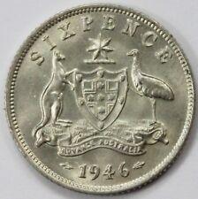 Australia 1946 Sixpence, Choice Uncirculated