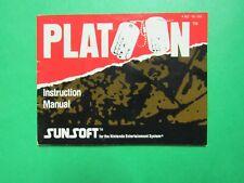 Platoon manual only - no game .... NES Nintendo