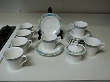 Mikasa Super Strong Fine China Renoir 7 Cups & 8 Saucers  Sugar Bowl W Lid