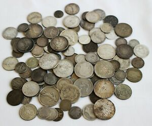 15.2 Troy Oz .835 Silver Content Coins Mixed Lot Asst Dates Grades Countries