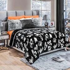 Brick Wall Bedspread Graffiti Blanket Reversible Warm Cozy Twin Full Comforter