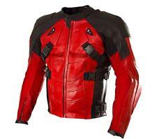 Deadpool Motorcycle Leather Jackets Men Motorbike Leather Jacket Moto GP CE