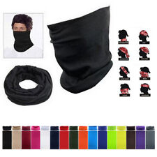 US 3Pcs Multi-use Tube Scarf Bandana Head Face Mask Neck Gaiter Head Wear Black