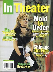 InTheater Magazine (July 3, 1998) Kristen Johnson in SKIN OF OUR TEETH