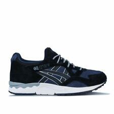 Men's Asics GEL-LYTE V Lace up Cushioned Trainers in Black