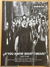 "OASIS - D'YOU KNOW WHAT I MEAN  full page PROMO AD (poster 12"" LP noel gallagher"