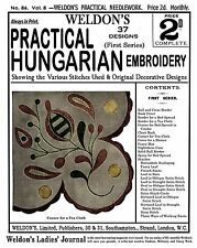Weldon's 2D #86 c.1892 - Practical Hungarian Embroidery