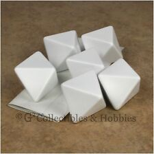NEW Set of 6 Jumbo 25mm Blank D8 Dice w/ Stickers D&D RPG Game 1 inch D8s