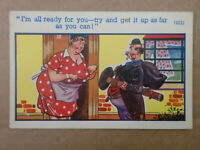 Vintage Comic Postcard Chimney Sweep GET IT UP AS FAR AS YOU CAN Brook no.16