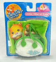 Zhu Zhu Pets Hamster Carrier & Blanket Lime Green
