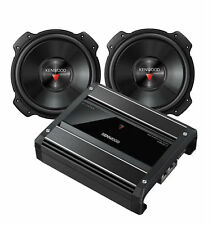 "Pair of Kenwood KFC-W3016PS 12"" 2000 watt Subwoofers w/ X500-1 Amplifier"