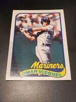 Set Break OMAR VIZQUEL 1989 Topps Traded Rookie RC #122T MINT