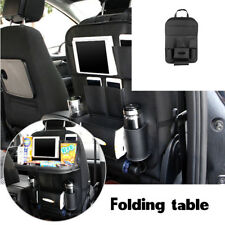 Black Leather Multi-Pocket Folding Storage Holder dining table Car Seat Back Bag