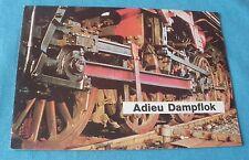 Adieu Dampflok w germany dépliant 12 feuilles ho 1:87 réseau train électrique