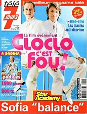 TELE 7 JOURS 2004: couv COLLECTOR tres rare CLAUDE FRANCOIS_ BENOIT POELVOORDE