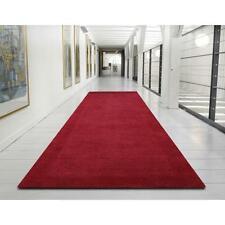 WOOL RED HALL RUNNER FLOOR RUG MODERN FUNKY RETRO 300x80 cm RRP $680
