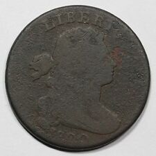 """1800 S-210 R-5+ """"Comma Variety"""" Draped Bust Large Cent Coin 1c"""