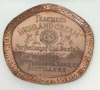 Antique Copper Teachers Highland Cream Whiskey Drinks Tray 31 cms