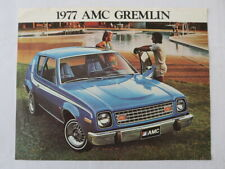 1977 AMC American Motors Gremlin Sales Sheet Brochure Vintage Car Advertising