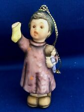 "Goebel Berta Hummel Figural Ornament  ""STOCKING FOR DOLLY"" Girl with doll 1997"