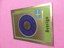 STICKER PANINI EURO 80 1980 BADGE SVERIGE SUEDE N°254