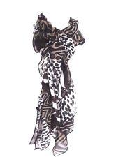 foulard écharpe imprimé léopard  140 cm