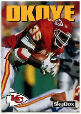 Christian Okoye #203 Chiefs Skybox Impact 1992 American Football Card (C543)
