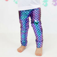 Todder Imcute Kids Baby Girls Mermaid Fish Stretch Long Leggings Tight Pants