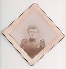 Vintage CDV Sconosciuta Donna Diamante Forma F.C.Marrone Foto Brooklyn Netto Y