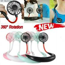 Portable USB Rechargeable Neckband Dual Cooling Mini Fan Lazy Neck Hanging 2020