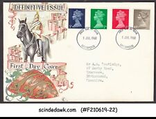 Great Britain - 1968 Definitive Issue Qeii - 4V - Fdc