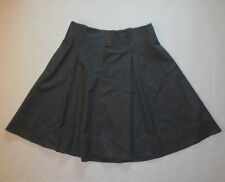 NWOT J. CREW WOMENS SKIRTS HEATHERED GRAY FULLY LINED FLARES KNEE LENGTH SIZE 8