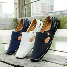 Men's Loafers Driving Shoes Loafers Casual Leather Stitched Slip On Shoes