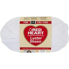 """Red Heart Luster Sheen Yarn-White, Set Of 3"""