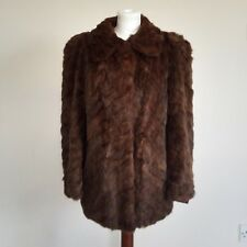 Original True Vintage 1940s Mink Real Fur Swing Swagger Coat Jacket S M L