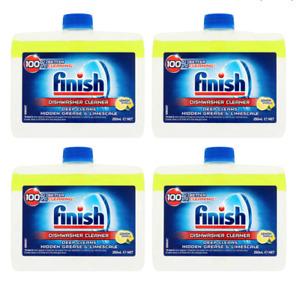 Finish Dishwasher Cleaner Lemon 1,2,3,4,8 ,250ml bottles - Cleans and descales